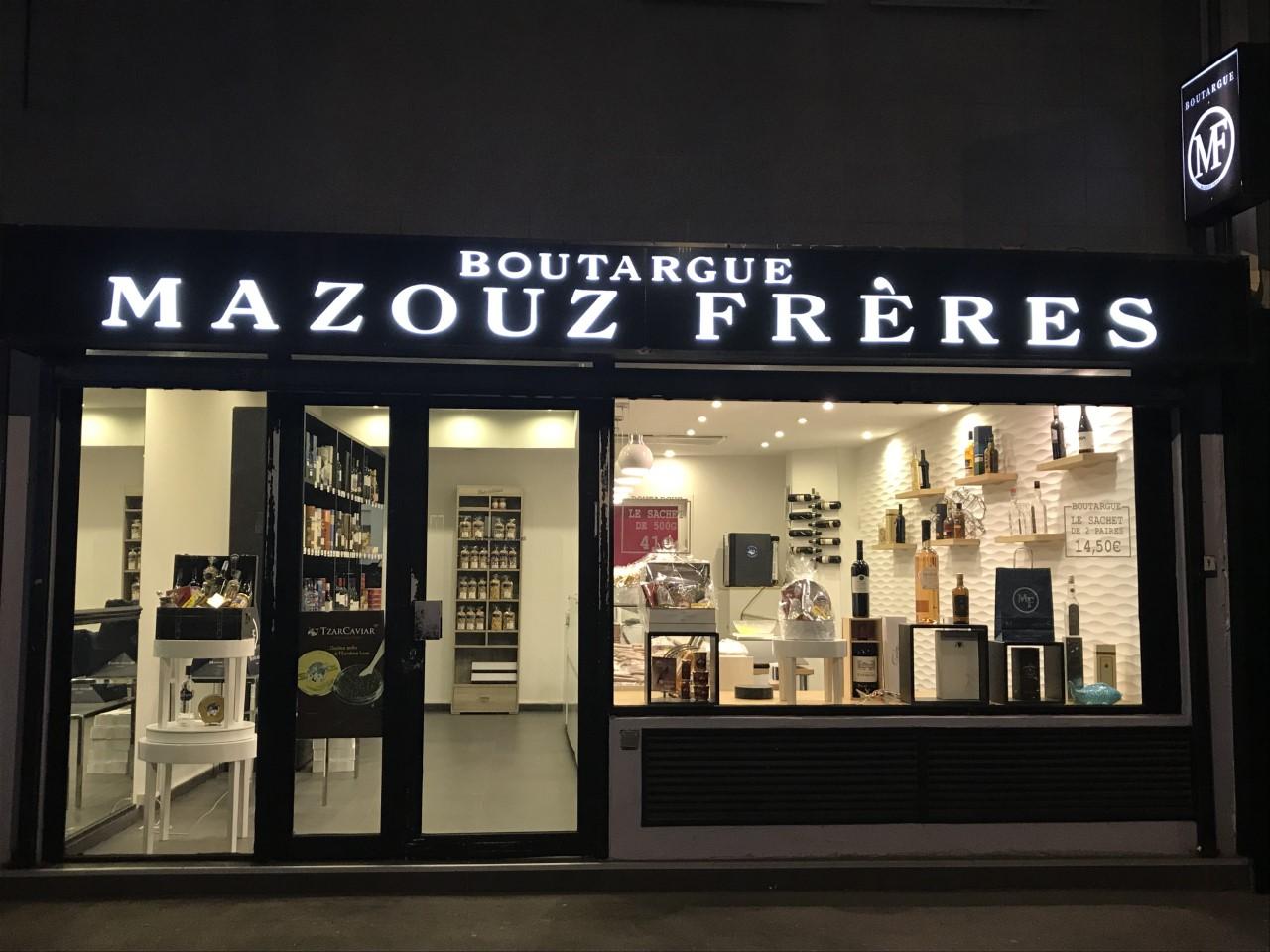 Vitrine extérieur de la boutique Mazouz Frères